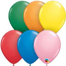 5 inch Standard Assortment Balloons - Qualatex 100pcs